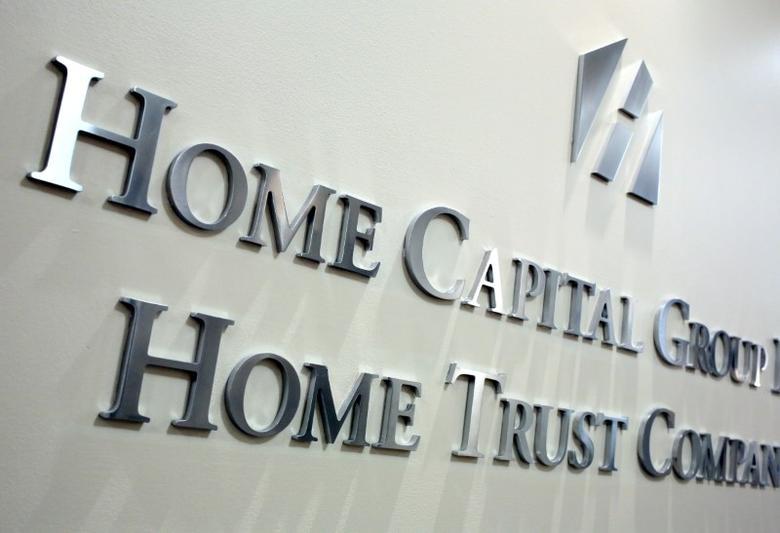 2017年4月26日,加拿大多伦多,Home Capital Group总部入口处的标识。REUTERS/Chris Helgren