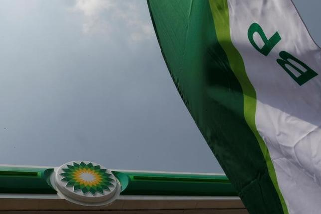 A BP logo is seen at a new petrol station on the outskirts of Mexico City, Mexico March 9, 2017. REUTERS/Carlos Jasso/File Photo