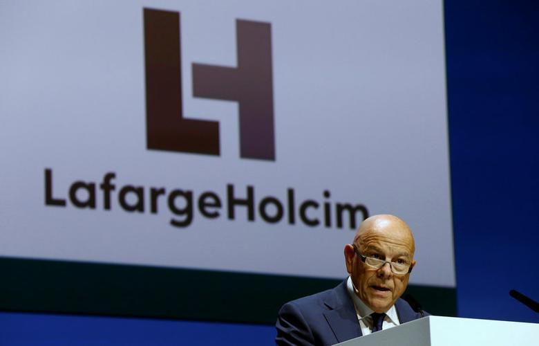 Chairman Beat Hess of Franco-Swiss cement giant LafargeHolcim addresses the company's annual shareholder meeting in Zurich, Switzerland May 3, 2017.  REUTERS/Arnd Wiegmann