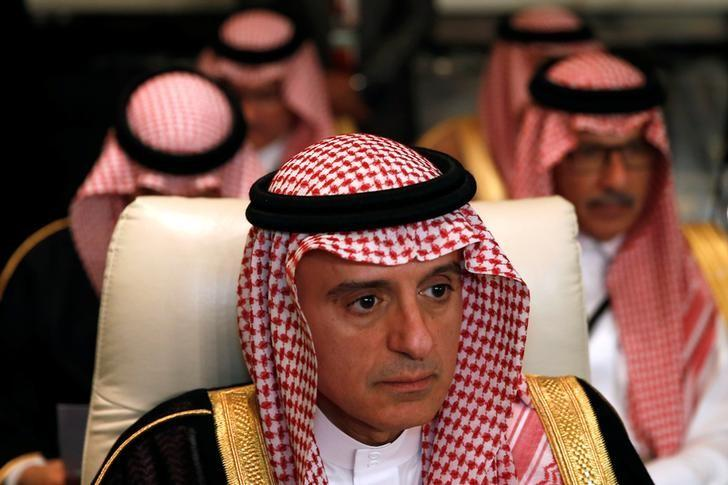 Saudi Arabia's Foreign Minister Adel al-Jubeir attends the preparatory meeting of Arab Foreign ministers of the 28th Ordinary Summit of the Arab League at the Dead Sea, Jordan March 27, 2017. REUTERS/Muhammad Hamed/Files