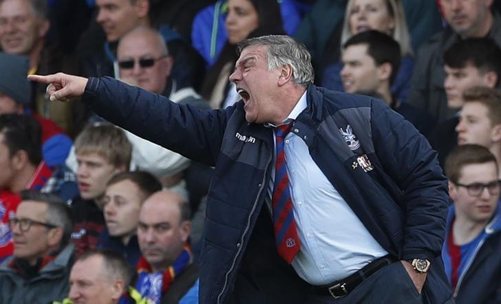 Britain Football Soccer - Crystal Palace v Burnley - Premier League - Selhurst Park - 29/4/17 Crystal Palace manager Sam Allardyce  Action Images via Reuters / John Sibley Livepic