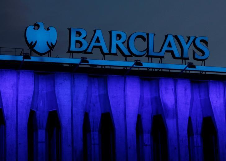 The logo of Barclays is seen on the top of one of its branch in Madrid, Spain, March 22, 2016. REUTERS/Sergio Perez/File Photo