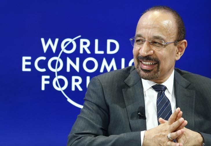 Khalid al-Falih Saudi energy minister attends the World Economic Forum (WEF) annual meeting in Davos, Switzerland January 19, 2017.  REUTERS/Ruben Sprich