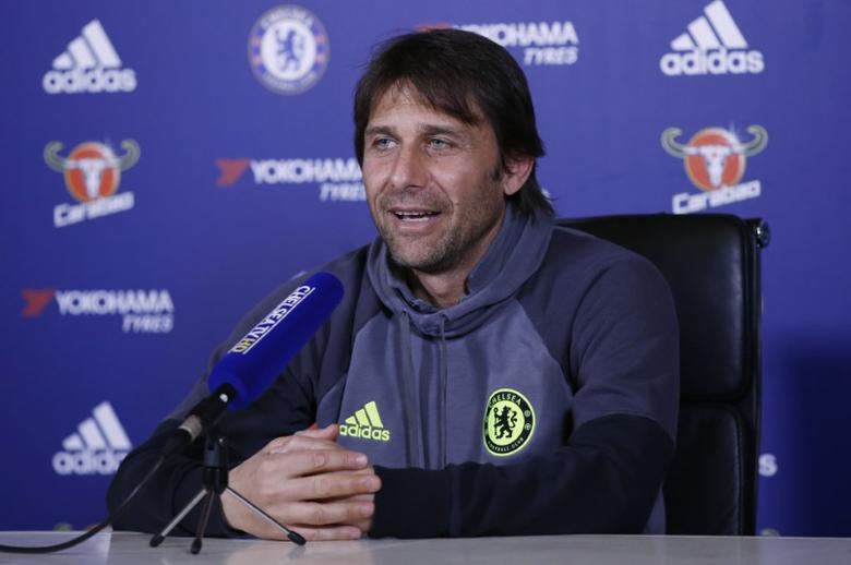Britain Football Soccer - Chelsea - Antonio Conte Press Conference - Chelsea Training Ground - 5/5/17 Chelsea manager Antonio Conte during the press conference Action Images via Reuters / Peter Cziborra Livepic