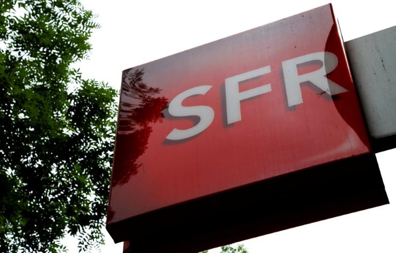 FILE PHOTO: The logo of French telecoms operator SFR is pictured in Paris, France, August 8, 2016. REUTERS/Jacky Naegelen