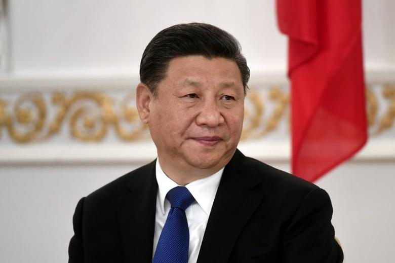 FILE PHOTO: China's President Xi Jinping attends the signing ceremony at the Presidential Palace in Helsinki, Finland April 5, 2017. Lehtikuva/Vesa Moilanen/via REUTERS