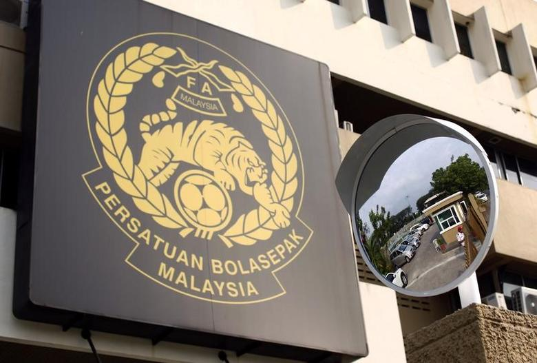 The logo of the Football Association of Malaysia (FAM) is pictured at their headquarters in Kuala Lumpur February 5, 2014.  REUTERS/Samsul Said