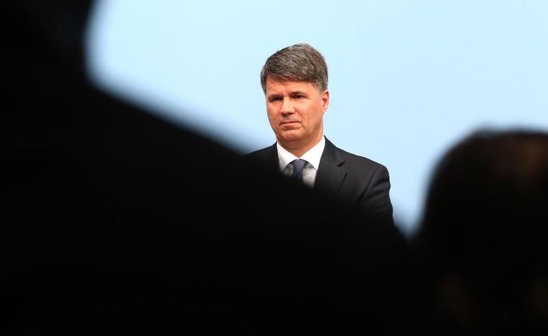 Harald Krueger, Chief Executive of German luxury carmaker BMW addresses the company's annual news conference in Munich, southern Germany, March 21, 2017.   REUTERS/Michael Dalder