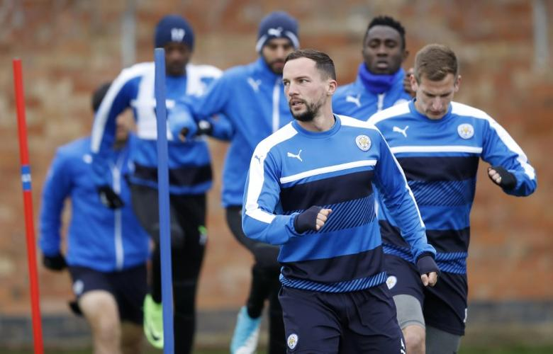 Britain Football Soccer - Leicester City Training - Leicester City Training Ground, Leicester, England - 17/4/17 Leicester City's Danny Drinkwater during training Action Images via Reuters / Carl Recine Livepic