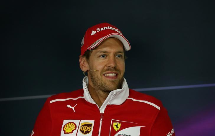 Formula One - F1 - Spanish Grand Prix - Barcelona-Catalunya racetrack, Montmelo Spain - 11/05/17 - Ferrari's Sebastian Vettel attends a news conference. REUTERS/Albert Gea