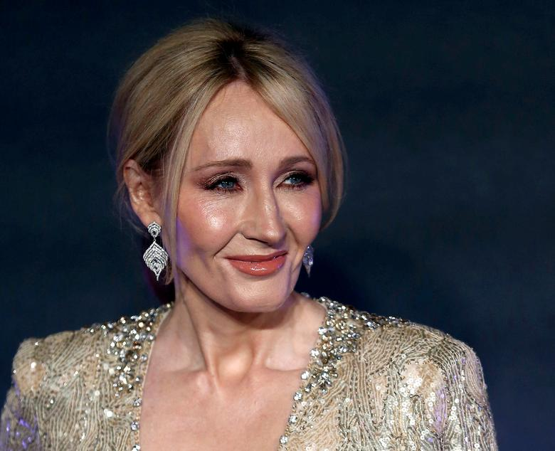 FILE PHOTO: Writer J.K. Rowling poses as she arrives for the European premiere of the film ''Fantastic Beasts and Where to Find Them'' at Cineworld Imax, Leicester Square in London, Britain November 15, 2016. REUTERS/Neil Hall/File Photo