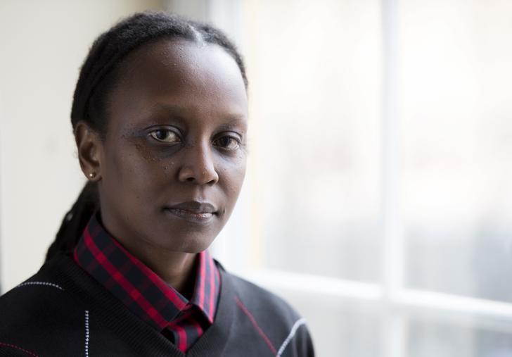 Ugandan LGBT rights activist Kasha Jacqueline Nabagesera poses during a press meeting in Stockholm on November 27, 2015. REUTERS
