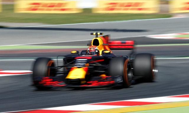 Formula One - F1 - Spanish Grand Prix - Barcelona-Catalunya racetrack, Montmelo Spain - 12/05/17 - Red Bull's Max Verstappen in action during the first free practice. REUTERS/Albert Gea