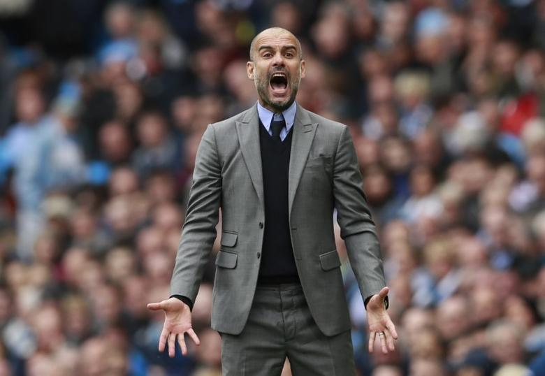 Britain Football Soccer - Manchester City v Leicester City - Premier League - Etihad Stadium - 13/5/17 Manchester City manager Pep Guardiola  Action Images via Reuters / Jason Cairnduff