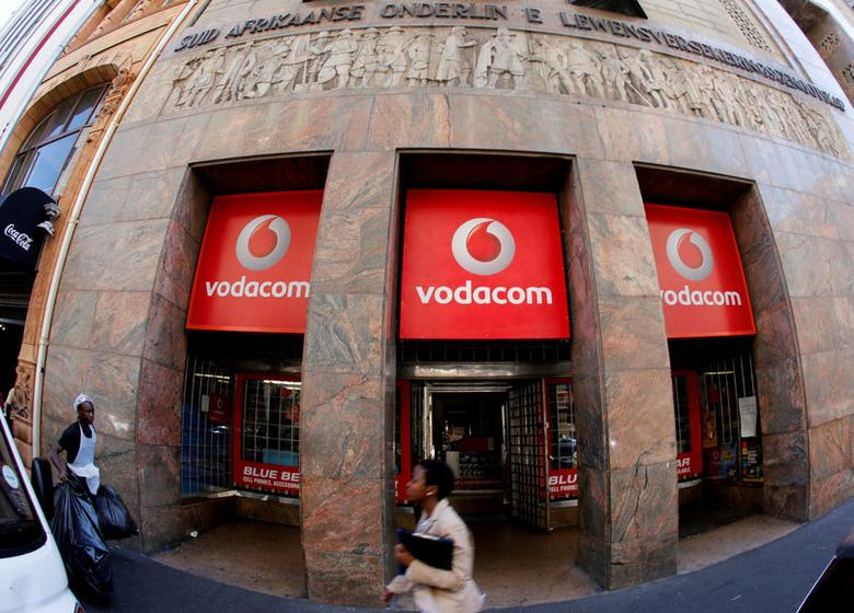 FILE PHOTO: A branch South African mobile communications provider Vodacom is seen in Cape Town, South Africa November 10, 2015. REUTERS/Mike Hutchings/File Photo
