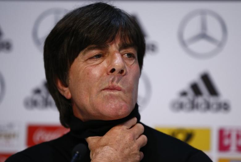 Football Soccer - Germany Press Conference - German Football Museum, Kamen, Germany - 21/3/17 Germany's coach Joachim Loew during the press conference Reuters / Wolfgang Rattay Livepic