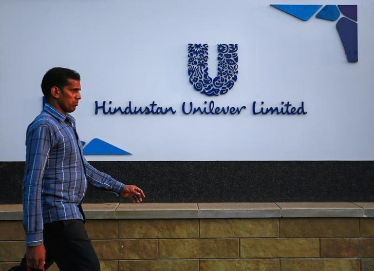 A pedestrian walks past the Hindustan Unilever Limited (HUL) headquarters in Mumbai January 19, 2015. REUTERS/Danish Siddiqui/Files