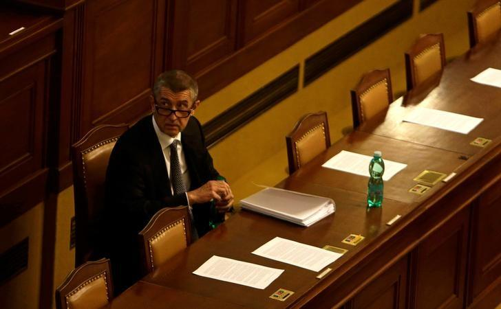 Czech Finance Minister Andrej Babis attends a parliamentary session in Prague, Czech Republic, May 10, 2017. REUTERS/David W Cerny
