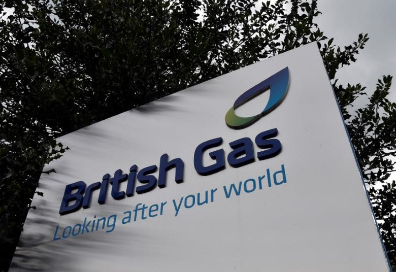 FILE PHOTO: A British Gas sign is seen outside its offices in Staines in southern England, July 31, 2014.  REUTERS/Toby Melville