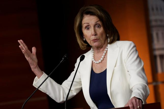 U.S. House Minority Leader Nancy Pelosi (D-CA) speaks during a news conference on Capitol Hill in Washington, U.S, April 27, 2017. REUTERS/Yuri Gripas