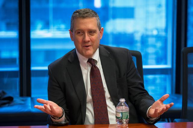 FILE PHOTO: St. Louis Fed President James Bullard speaks about the U.S. economy during an interview in New York, U.S., on February 26, 2015. REUTERS/Lucas Jackson/File Photo