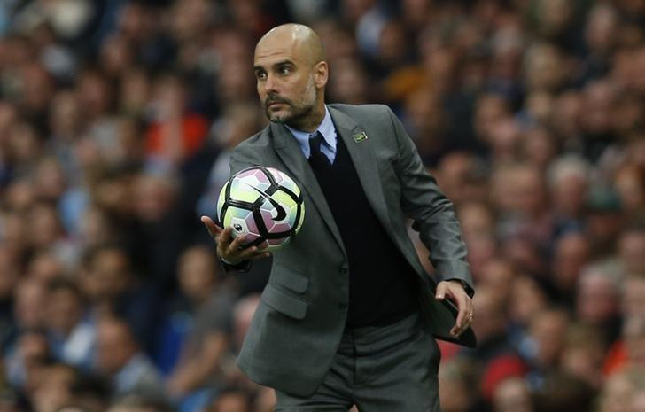 Britain Football Soccer - Manchester City v West Bromwich Albion - Premier League - Etihad Stadium - 16/5/17 Manchester City manager Pep Guardiola Reuters / Andrew Yates/ Livepic