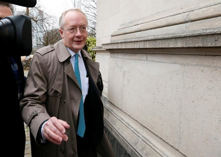FILE PHOTO: Myron Ebell, who leads U.S. President Donald Trump's Environmental Protection Agency's transition team, arrives at the Solvay library in Brussels, Belgium February 1, 2017. REUTERS/Yves Herman