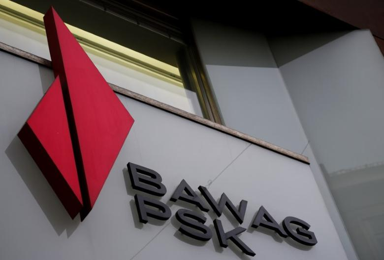 The logo of BAWAG PSK Bank is pictured on one of its branches in Vienna, Austria, March 2, 2016.   REUTERS/Leonhard Foeger