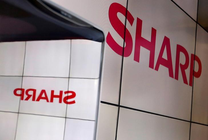 FILE PHOTO -  A logo of Sharp Corp is pictured at CEATEC (Combined Exhibition of Advanced Technologies) JAPAN 2016 at the Makuhari Messe in Chiba, Japan, October 3, 2016.   REUTERS/Toru Hanai/File Photo