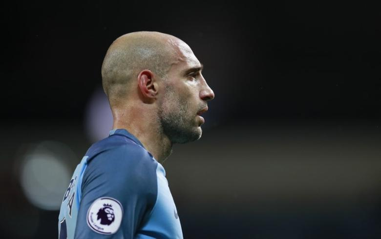 Britain Football Soccer - Manchester City v West Bromwich Albion - Premier League - Etihad Stadium - 16/5/17 Manchester City's Pablo Zabaleta Action Images via Reuters / Jason Cairnduff Livepic