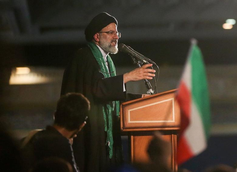 Iranian Presidential candidate Ebrahim Raisi speaks during a campaign meeting at the Mosalla mosque in Tehran, Iran, May 16, 2017. Picture taken May 16, 2017. TIMA via REUTERS ATTENTION EDITORS - THIS IMAGE WAS PROVIDED BY A THIRD PARTY. FOR EDITORIAL USE ONLY.