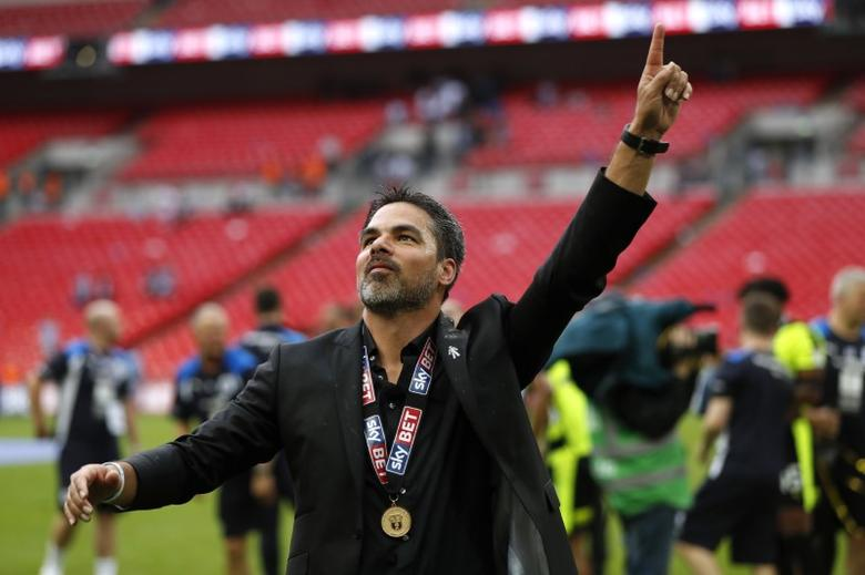 Britain Football Soccer - Reading v Huddersfield Town - Sky Bet Championship Play-Off Final - Wembley Stadium, London, England - 29/5/17 Huddersfield Town manager David Wagner celebrates after winning the Sky Bet Championship Play-Off Final and getting promoted to the Premier League  Action Images via Reuters / John Sibley Livepic
