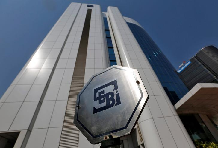The logo of the Securities and Exchange Board of India (SEBI) is pictured on the premises of its headquarters in Mumbai, March 1, 2017. REUTERS/Shailesh Andrade/Files
