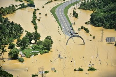 Massive flooding in Sri Lanka