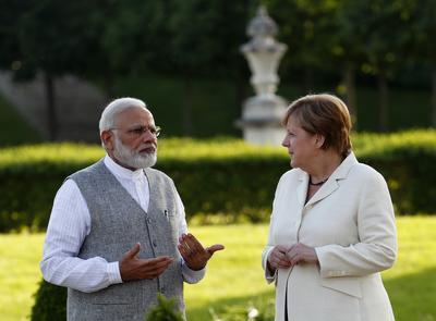 Modi meets Merkel