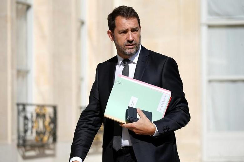 French Secretary of State for Parliamentary Relations and Government Spokesperson Christophe Castaner arrives at the Elysee Palace before a weekly cabinet meeting in Paris, France, May 31, 2017. REUTERS/Charles Platiau