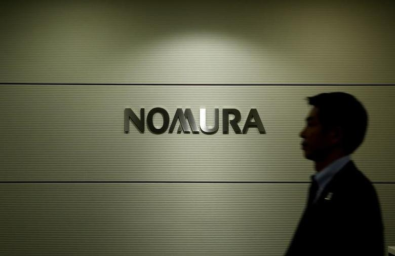 The logo of Nomura Securities is pictured at the company's Otemachi Head Office in Tokyo, Japan, November 18, 2016.  REUTERS/Toru Hanai
