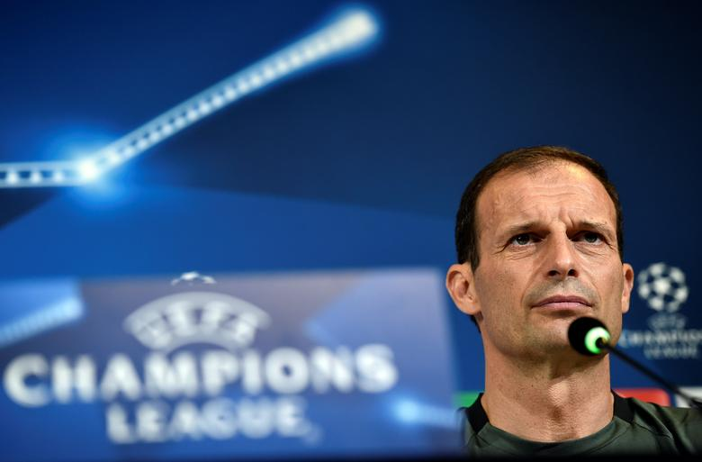 Football Soccer - Juventus news conference - UEFA Champions League Final - Juventus stadium, Turin, Italy - 29/5/17 - Juventus's coach Massimiliano Allegri attends a news conference during open media day. REUTERS/Giorgio Perottino