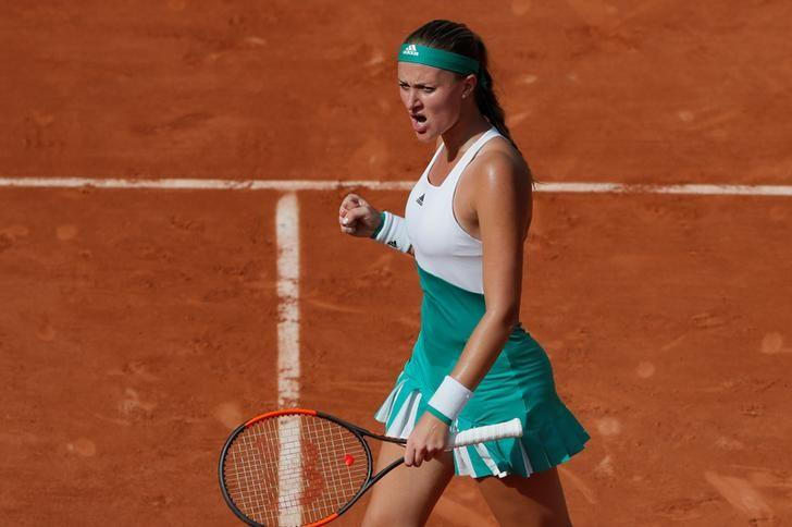 Tennis - French Open - Roland Garros, Paris, France - 31/5/17 France's Kristina Mladenovic reacts during her second round match against Italy's Sara Errani Reuters / Gonzalo Fuentes