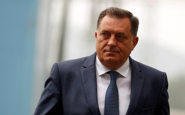 FILE PHOTO: Republika Srpska President Milorad Dodik at a ceremony in Stanari near Doboj, Bosnia and Herzegovina, September 20, 2016. REUTERS/Dado Ruvic/File Photo