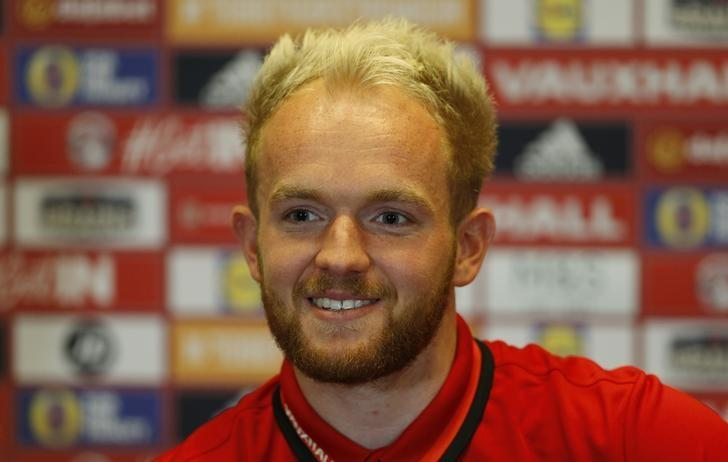 Britain Soccer Football - Wales Press Conference - The Vale Resort, Hensol, Vale of Glamorgan, Wales - 9/11/16 Wales' Jonny Williams during the press conference Action Images via Reuters / Matthew Childs/ Livepic/ Files