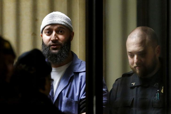 Convicted murderer Adnan Syed leaves the Baltimore City Circuit Courthouse in Baltimore, Maryland, U.S., on February 5, 2016. REUTERS/Carlos Barria/Files