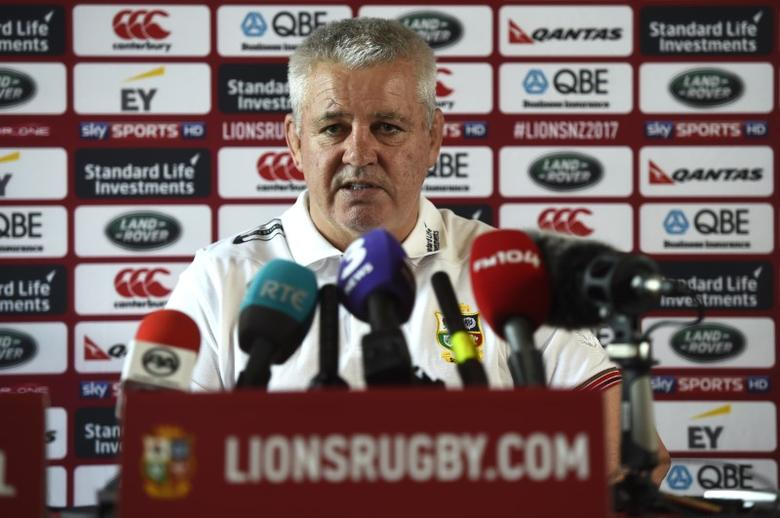 Rugby Union - British & Irish Lions Training & Press Conference - Carton House, Co. Kildare, Ireland - 22/5/17 British & Irish Lions Head Coach Warren Gatland during the press conference Reuters  / Clodagh Kilcoyne Livepic EDITORIAL USE ONLY.