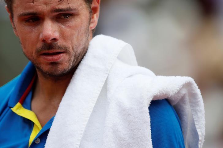 Tennis - French Open - Roland Garros, Paris, France - June 11, 2017   Switzerland's Stan Wawrinka looks dejected during the final against Spain's Rafael Nadal   Reuters / Christian Hartmann