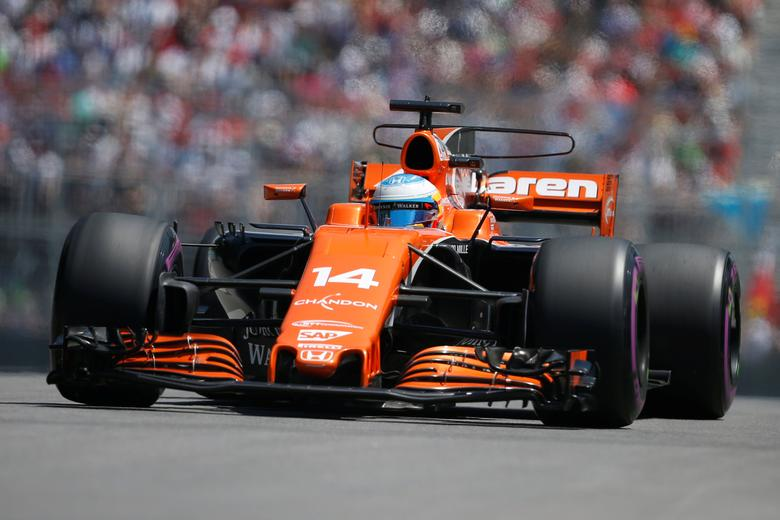 Formula One - F1 - Canadian Grand Prix - Montreal, Quebec, Canada - 10/06/2017 - McLaren's Fernando Alonso in action during the qualifying session. REUTERS/Chris Wattie
