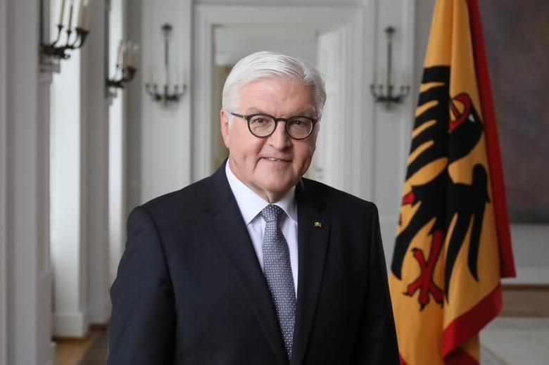 German President Frank-Walter Steinmeier poses after the recording of a television address to support a charity appeal to help Africa ''Gemeinsam gegen Hungersnot'' (Together Against Famine) at Bellevue Castle in Berlin, Germany May 16, 2017. REUTERS/Reinhard Krause
