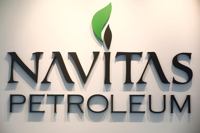 The logo of Israel's Navitas Petroleum is seen at their offices in Herzliya, Israel June 12, 2017. Picture taken June 12, 2017. REUTERS/Amir Cohen