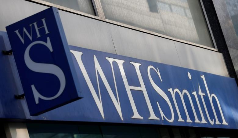 FILE PHOTO -  A company logo is pictured outside a branch of WH Smith in Manchester northern England, March 17, 2016. REUTERS/Phil Noble/File Photo