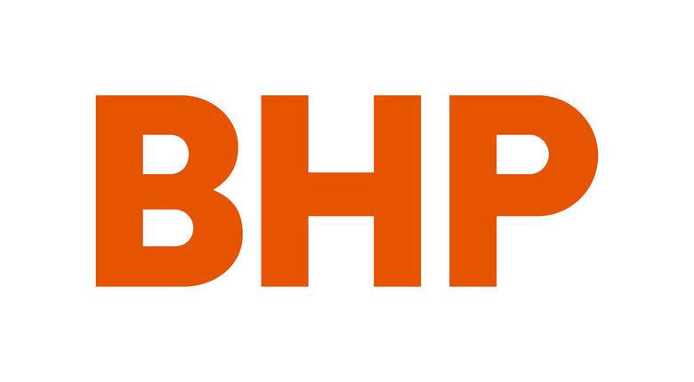 FILE PHOTO: Australian mining company BHP's new corporate logo, released to Reuters from their Melbourne, Australia, headquarters May 15, 2017. BHP/Handout via REUTERS/File Photo