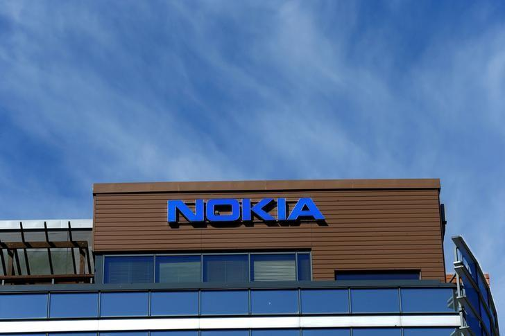 A Nokia logo is seen at company's headquarters in Espoo, Finland, May 5, 2017. REUTERS/Ints Kalnins/Files